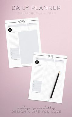 Printable Daily Planner Pages | Made by Indigo Printables  I believe the key to accomplishing a goal and taking big action is to have a plan,