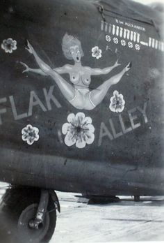 "Nose art ""Flak Alley"""