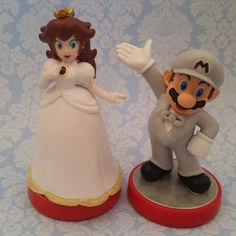 mario wedding cake topper pair of mario bros wedding cake toppers 17154