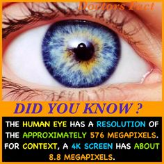 DID YOU KNOW? #humaneye #eyefact #resoution #camera