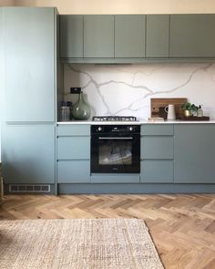 The blue or the green? I sound like the bloody optician. Swipe to see 👉🏼 My latest project for - architecture by… Kitchen Interior, Kitchen Decor, Kitchen Ideas, Open Plan Kitchen Dining Living, Kitchen Diner Extension, Barn Renovation, Stylish Kitchen, Green Kitchen, Pent House
