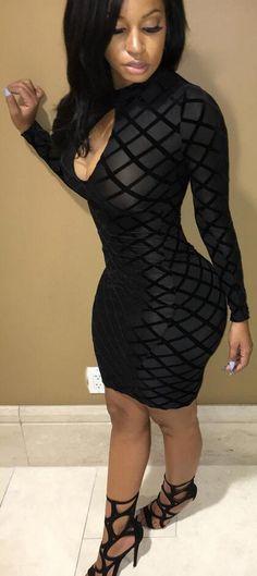 66a8c074869 Fashion Sexy Mesh Rhombus High Neck Bodycon Short Dress
