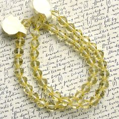 Yellow Bicone 6mm Glass Beads 55% off qty 50 by XOSupplies