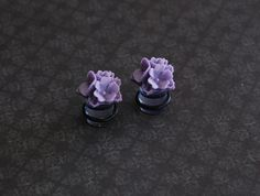 Lovely Lavender Floral Girly Plugs - 4g, 2g, 0g