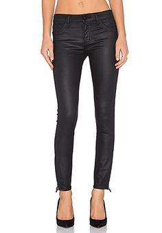 DL1961 Margaux Coated Skinny in Monsoon | REVOLVE
