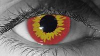 Pair Red Wolf Werewolf Eyes Out Eye Contacts Lenses Halloween Costume Accessories