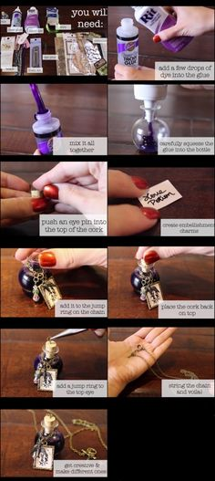 potion bottle charm for necklaces, etc.