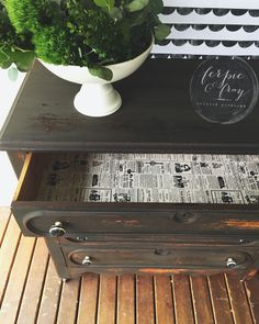 Dresser painted by Ferpie and Fray in Black Iron (real milk paint co.)