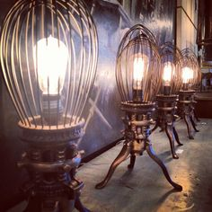 industrial light - nice idea for 'caged light' - different colours to demonstrate moods, e.g. red- anger