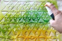 Ronda Palazzari - The Crafter's Workshop/Balzer Designs Blog Hop -Triangle plaid stencil
