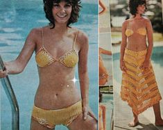 Crochet Pattern Vintage 70s Crochet Monokini by Liloumariposa