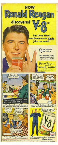Ronald Reagan V-8 ad by Tommer G, via Flickr