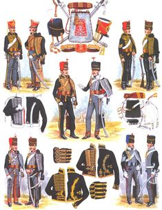 Hussards, Angleterre, 1815