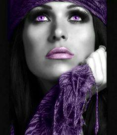 Color splash purple #SelfExpression #WomenArt