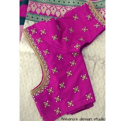 wonderful Pink Pearl and handmade art Mrng blouse You are in the right place about lo Cutwork Blouse Designs, Kids Blouse Designs, Wedding Saree Blouse Designs, Pattu Saree Blouse Designs, Simple Blouse Designs, Stylish Blouse Design, Blouse Neck Designs, Blouse Patterns, Zardosi Work Blouse