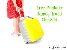 Free Printable Family Travel Checklist at orgjunkie.com