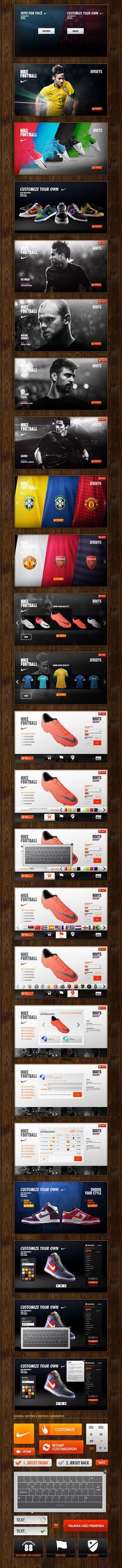 #Nike Touch by Fabricio Alves, via #Behance #Webdesign #Digital #UI