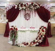 Wedding Backdrop Burgundy New Ideas Wedding Ceremony Ideas, Wedding Scene, Wedding Events, Wedding Reception, Weddings, Wedding Backdrops, Quinceanera Decorations, Ceremony Decorations, Wedding Centerpieces