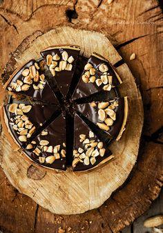 """Kanela y Limón: Tarta de queso """"zebra"""" con mantequilla de cacahuete y chocolate"""