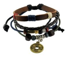 BESTSELLER! Chinese Ancient Coin Zen Bracelet / Leather Bracelet / Leather Wristband / Surf Bracelet Adjustable Size, for Men, Women,... $9.99