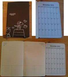 Moleskine Hack; tape calendar to outside of page so it folds out.