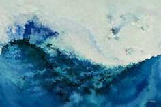 Original Modern Abstract Art |Ocean and Beach Inspired Large Abstract Art | Tempest. MarkLawrenceGallery.com