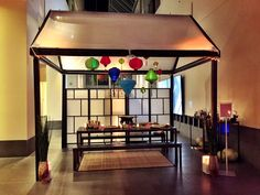 Tea house created by JHE at the Asian Art Museum for Salesforce Asian Art Museum, Tea, House, Furniture, Home Decor, Decoration Home, Home, Room Decor, Home Furnishings