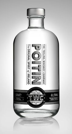 TWC Poitin Before there was Irish whiskey there was Poitín. A clear non-aged I. Whiskey Label, Scotch Whiskey, Bourbon Whiskey, Whiskey Bottle, Vodka Bottle, Alcohol Spirits, Wine And Spirits, Beverage Packaging, Bottle Packaging