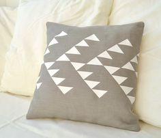 Grey Linen Pillow Cover / PALEOLOCHIC