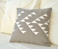 Grey Linen Pillow Cover / PALEOLOCHIC