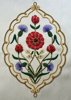 California Stitching: Persian Peony Tile Finished!
