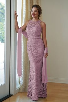 Lace & Jade Tiffany Chiffon MOB Dress with Jewel Neckline Mob Dresses, Event Dresses, Formal Dresses, Mother Of The Bride Dresses Long, Mothers Dresses, Jasmine Bridal, Bride Groom Dress, Couture Collection, Flare Skirt
