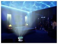 Aurora Master Tech Multicolor Ocean Wave Light Projector 12 LED iPhone Speaker