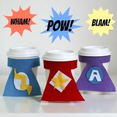 Superhero Cup Cozies