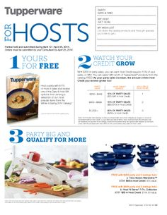 Host Gifts, My Wish List, Tupperware, Party, Facebook, Free, Fiesta Party, Guest Gifts, Tub