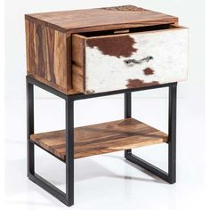 Rodeo Cowhide Side Table