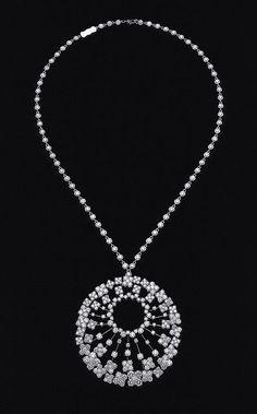 Diamond Necklaces : Diamond necklace Van Cleef & Arpels.