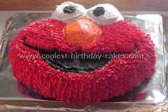 "Elmo birthday cake ideas -  Samuel would love this ""Melmo"" cake for his birthday!!"