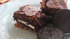 Slutty Brownies-Cookie Oreo Chocolate Fudge... yessplease :p