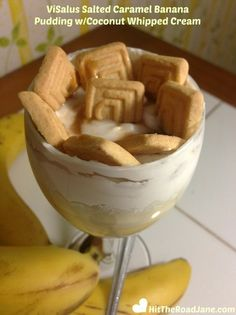 ViSalus Caramel Banana Pudding with Coconut Whipped Cream