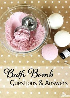 If you are having trouble creating bath bombs and fizzies, this Bath Bomb Questions & Answers post is full of tricks, tips and troubleshooting advice.