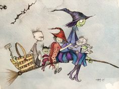 Witch family picnic. How do you picnic