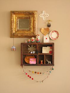 I love handmade wall collages!