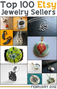 Ever wondered who the top jewelry sellers are on Etsy.   Here are the top 100 Etsy sellers in the jewelry category for 2012.  These rankings are by sales numbers . All the shop links are clickable so have fun!!!