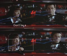 don't be a [   ] daddy o ~ classic Pulp Fiction