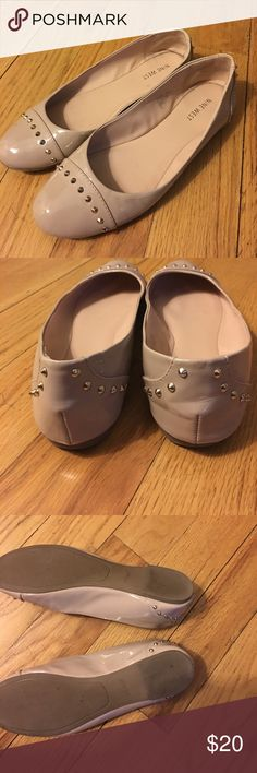 Nude patten leather ballet shoes with studs Gently used but in great condition. Fair offers accepted. Bundle and save 30%. Nine West Shoes Flats & Loafers