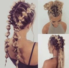 Pin by Evelyn Stelfox-Ventimiglia on Hair & Hair-dos in 2019 « Beauty MY Fast Hairstyles, Braided Hairstyles, Wedge Hairstyles, Casual Hairstyles, Hairstyles For Women, Going Out Hairstyles, Pigtail Hairstyles, Blonde Hairstyles, Hairstyles 2018