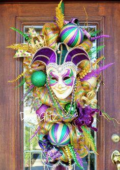 Custom order Mardi Gras Swag DecoGlitz on Etsy