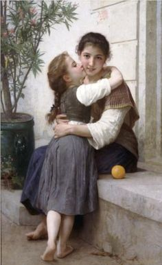 A Little Coaxing - William-Adolphe Bouguereau