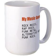 My Music Genres - 1 - Rock, Rap... Mugs